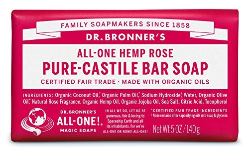 Dr. Bronner's Rose Bar Soap Made with Organic Ingredients 140 g by Dr. Bronner's 1