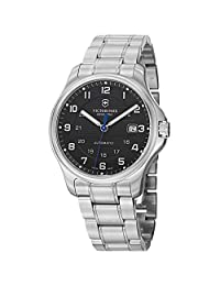 Swiss Army V241671 Men's Black Dial and Stainless Steel Watch