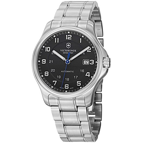 Victorinox Swiss Army Officer's Men's Black Dial Stainless - Swiss Army Watch Automatic