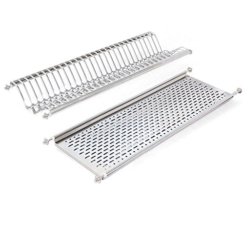 (Emuca 8929865 Stainless steel dish drying rack for standard 80cm-widht kitchen cabinet)