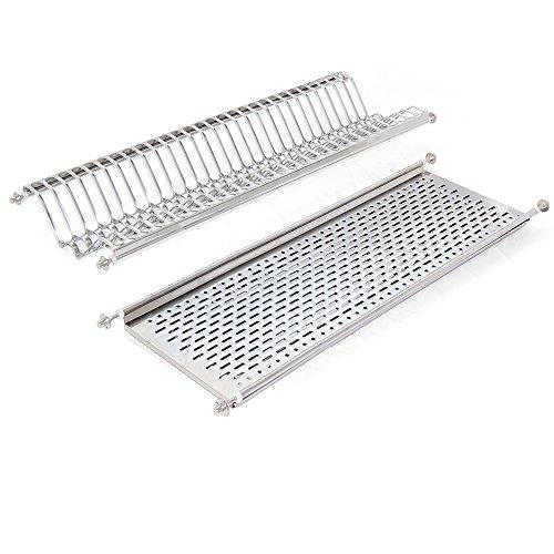 Emuca 8929865 Stainless steel dish drying rack for standard