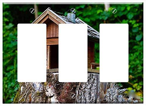 Switch Plate Triple Rocker/GFCI - Wood Model Cottage Natural Produce - Cottage Rocker Natural
