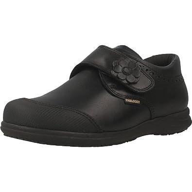 Pablosky 328410, Chaussures Bateau Fille, Noir (Negro 328410), 32 EU