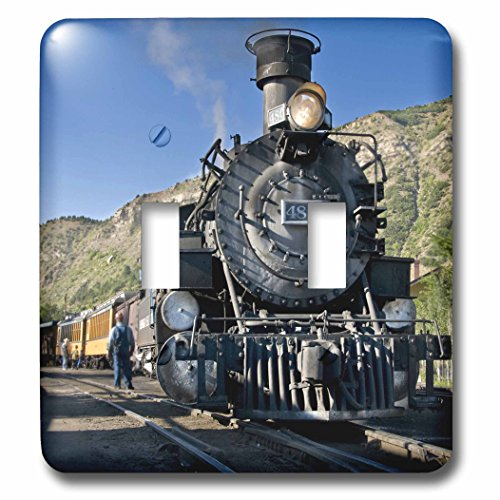 (3dRose lsp_88941_2 Durango and Silverton Narrow Guage Railroad, Trains Us06 Lkl0010 Lee Klopfer Double Toggle Switch)