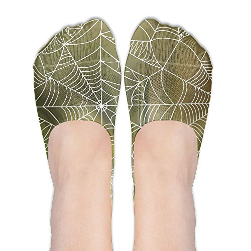 Low Cut Socks Halloween Spider Web Womens Casual No Show Socks Non Slip Flat Boat (Halloween Webs Clipart)