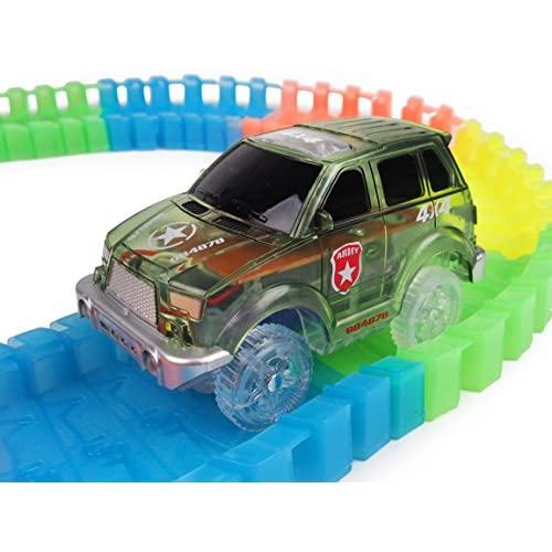 Hot Sale Light Up Toy Car Green Military Jeep 2 Blue Police Cars