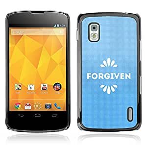 Bible Case Cover LG GOOGLE NEXUS 4 / FORGIVEN /