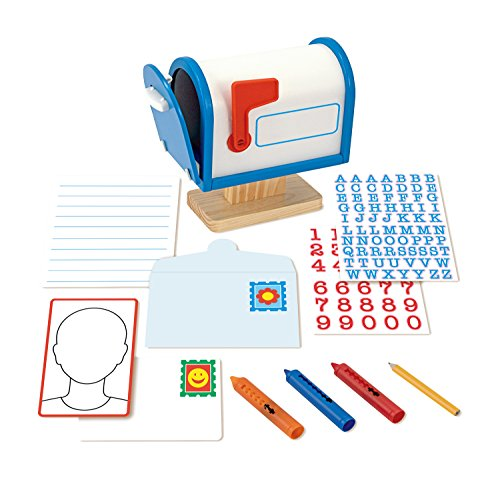Melissa & Doug My Own Wooden Mailbox Activity Set and Educational -