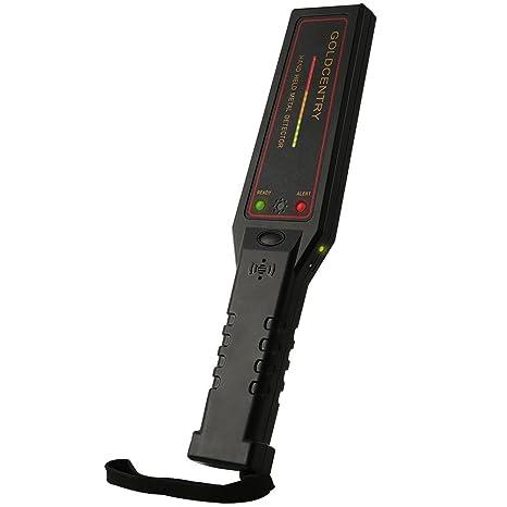 Seguridad Detector de metales de mano ajustable Sensibilidad Super varita escáner con 16 luces LED para