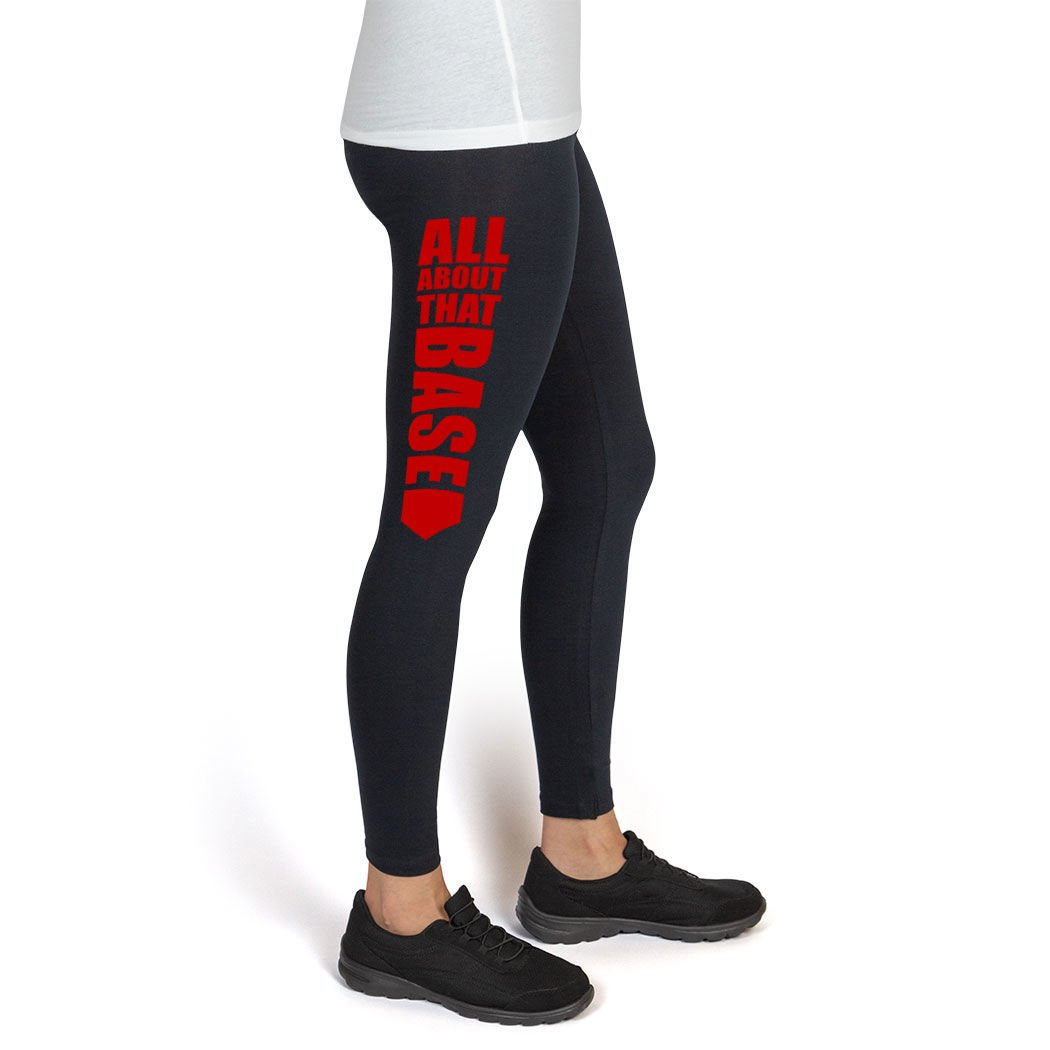ChalkTalkSPORTS Softball High Print Legging All About That Base sb-02517
