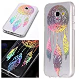 For Samsung Galaxy A5 2017 Case Clear Silicone Phone Cover and Screen Protector, OYIME Creative Plating Design with Bright Pattern Skin Ultra Thin Slim Soft Silicone Rubber Glitter Brilliant Transparent Protective Back Cover Anti-Scratch Drop Protection Shockproof Bumper Cases Etui for Samsung Galaxy A5 2017 A520 - Dream Catcher