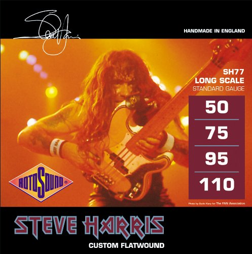 Rotosound Monel 'Steve Harris' Gauge Flatwound Bass Strings (50 75 95 110)