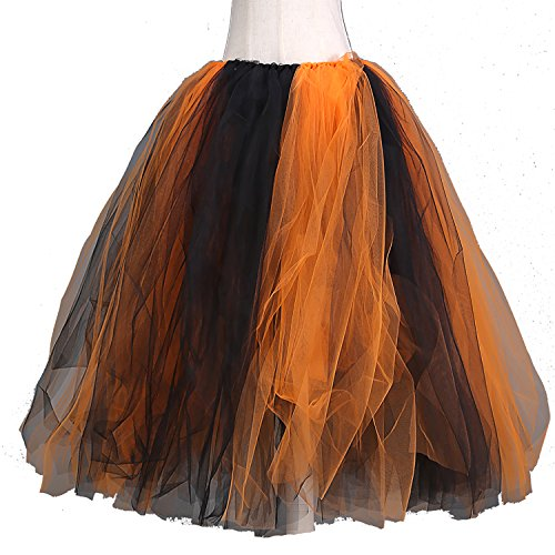 Family Train Costumes (Party Train 100 cm Long Adult Puffy Tutu Tulle Skirt For Women Floor Length Wedding Party Skirts (Halloween))