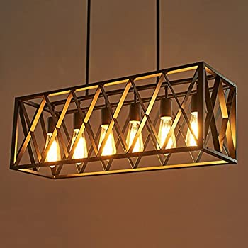 Vineyard 6 Light Metal And Wood Chandelier Amazon Com