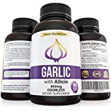 Garlic with Allicin for Intense Immunity Support & Heart Health - Enteric Coated Tablets for Easy Swallowing - Maximum Strength 400mg - Experience the Allicin Difference - 3 Month Supply