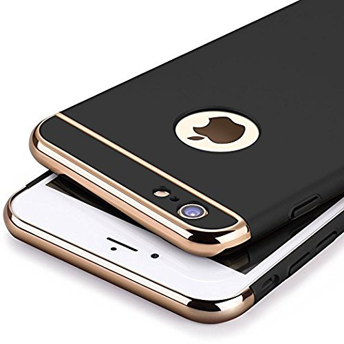 new product 5ded1 1b14b Aeetz® iPhone 6 Back Covers, iPhone 6s Case, Ultra-Thin 3in1 Electroplate  Metal Texture Hard Plastic Back Case Cover for Apple iPhone 6 & 6s (4.7 ...