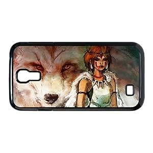 Samsung Galaxy S4 phone case Princess Mononoke ashitaka San Hard Case Black 09