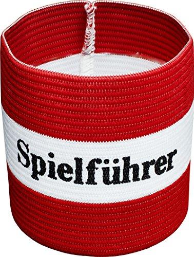 Cawila Fußball, Armbinde, Kapitänsbinde 'Spielführer', verschiedene Farben und Größen (rot/weiß, Senior)