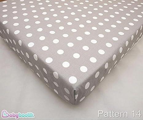Lenzuola per culla//lettino in cotone con motivi coordinati 90/x 40/cm