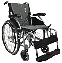 Karman S-115F16SMG-E Mag Wheelchair with Elevating Legrest, Pearl Silver, 16 x 17, 27 Pound