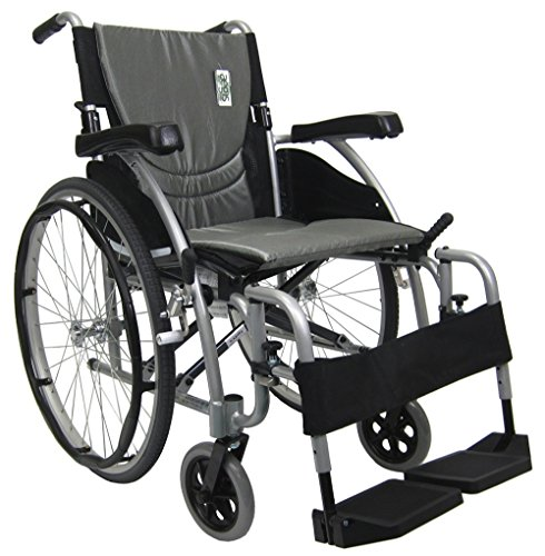Karman S-115F20SS-TP-E Transport Wheelchair with Elevating L