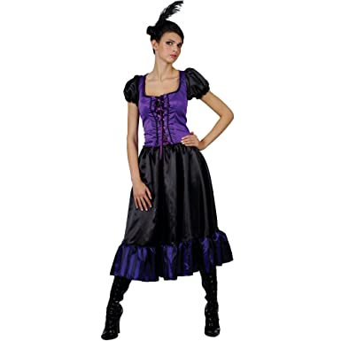 Saloon Dancer Ladies Moulin Rouge Fancy Dress Costume Wild West
