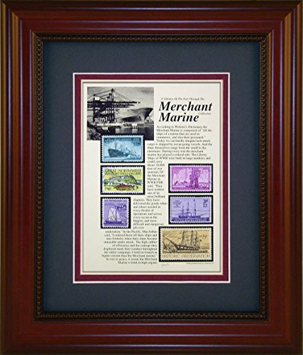 Merchant Marine - Unique Framed Collectible (A Great Gift Idea)