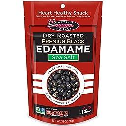 Seapoint Farms, Dry Roasted Premium Black Edamame, Sea Salt, 3.5 oz (99 g) - 3PC