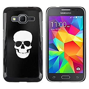 Paccase / SLIM PC / Aliminium Casa Carcasa Funda Case Cover - White Black Flag Pirate Skull Death - Samsung Galaxy Core Prime SM-G360