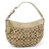 Coach Soho Signature Jacquard Pleated Handbag/Shoulder, Putty F13740