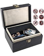 Car Key Signal Blocking Box,Large Faraday Box 17 x 12 x 9cm for Car Keys Phones RFID Blocker Case Car Key Safe Box,Fob Storage Box Keyless Cars Security Anti Theft Large Storage Box