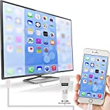 HDMI Cable Golden Dock Lightning to HDMI HDTV AV Cable Adapter for Apple iPhone 6 6s Plus 5 5s Need NO Personal Hotspot Support (Silver)