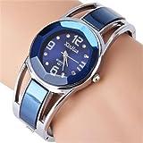 Montre à quartz design avec cadran avec bracelet en acier inoxydable orné de strass pour femme