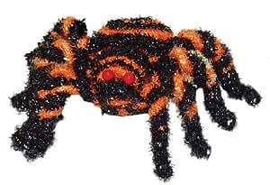 naranja negro pequeña araña con escarcha