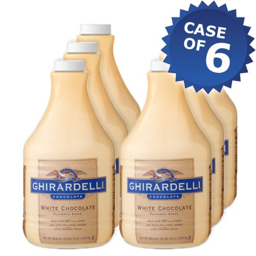 Ghirardelli White Chocolate Flavored Sauce- 64oz Bottle (Case of 6) by Ghirardelli