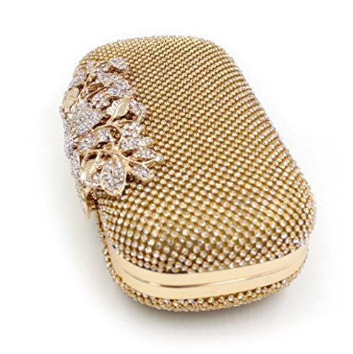 Wedding Clutch Bag Evening Party Prom Handbag Purse Ladies Box Gold IFSxqUwq