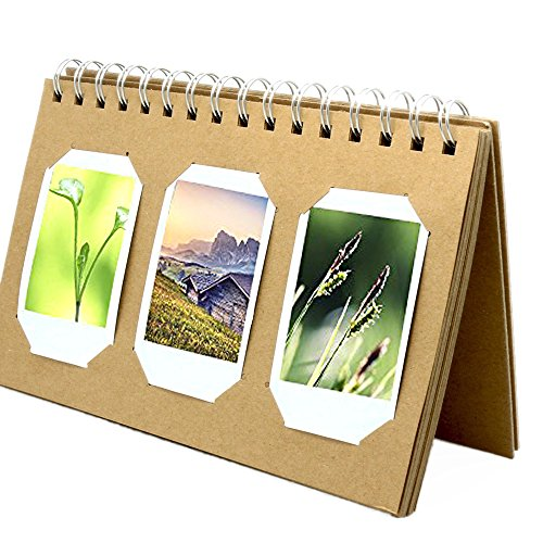 FoRapid Fuji Instax Mini Photo Album with Cardboard Cover for Films of Instax Mini 9 8 7s 70 25 50s 90/ Pringo 231/ Fujifilm Instax SP-1/ Polaroid PIC-300P/ Polaroid Z2300 (20 Pages Hold 60 Photos) by FoRapid