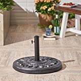 Great Deal Furniture Easter | Outdoor Concrete Circular Umbrella Base | 44LBS | in Hammered Iron