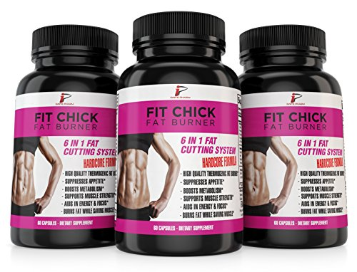 Fit Chick Fat Burner: Diet Pills that Work Fast For Women, Muscle Preserving Thermogenic Weight Loss Supplement, Appetite Suppressant, Energy Booster, Mental Focus, Green Tea, L-Carnitine, 60 Caps