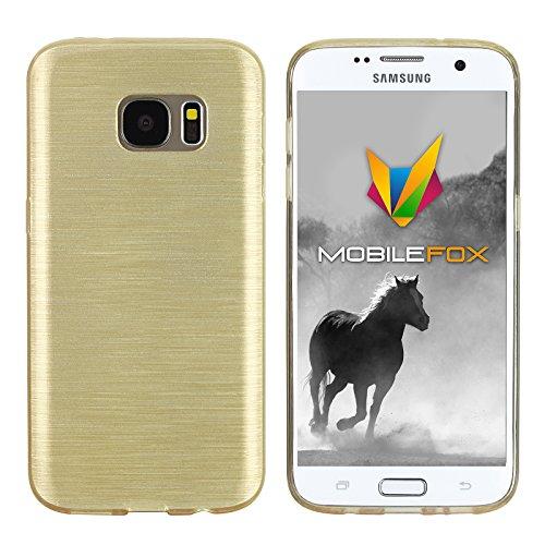 Mobilefox Paul Cover Schutzhülle Soft Case Samsung Galaxy S7 Gold