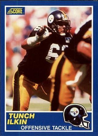 Amazoncom 1989 Score Football Rookie Card 89 Tunch Ilkin Near