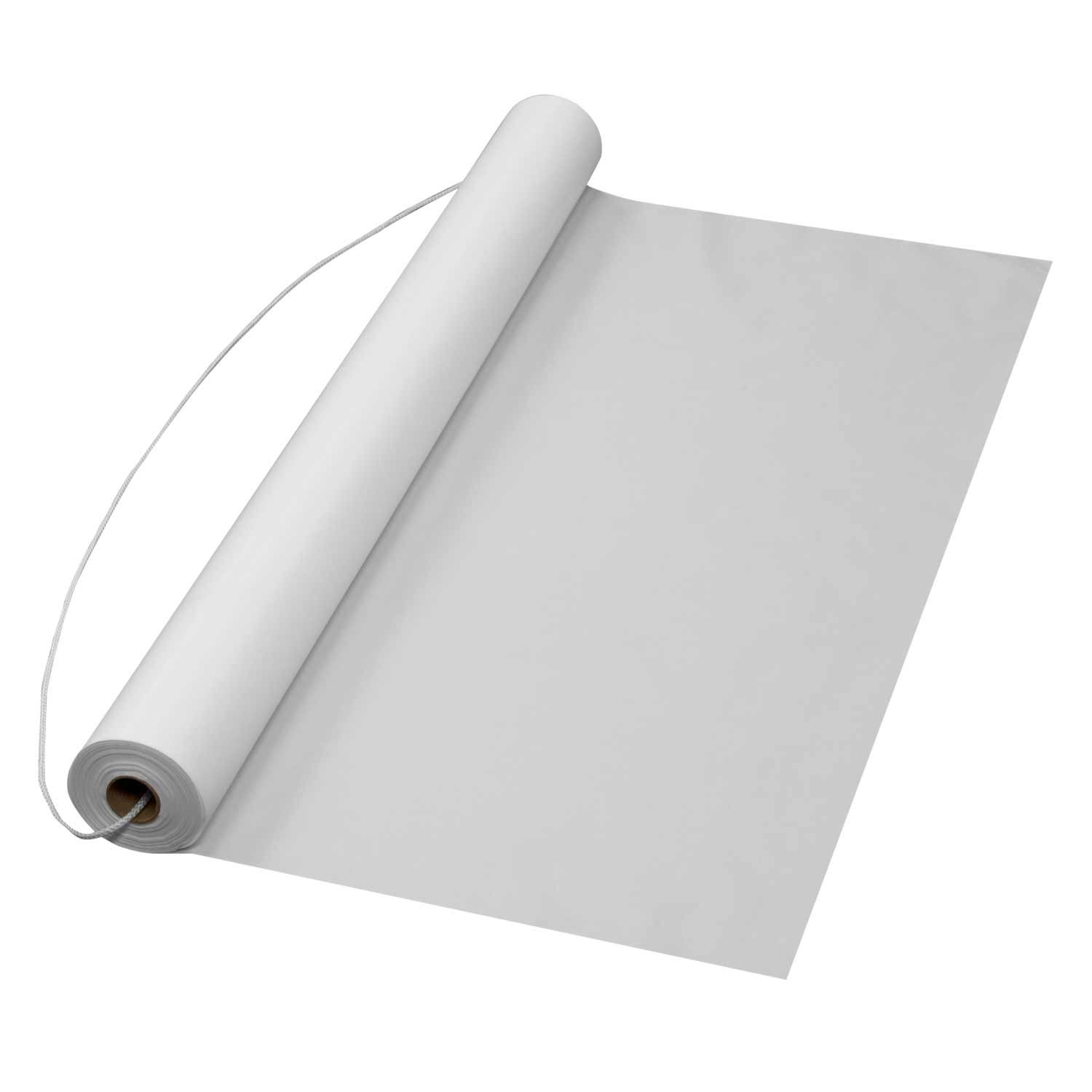 Party Essentials AR75 Plastic Aisle Runners, 75' Length x 36'' Width, White (Pack of 6)