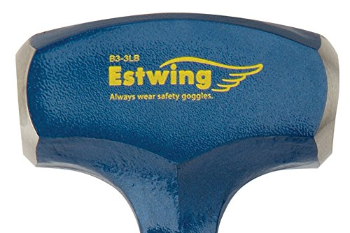 Estwing Drilling/Crack Hammer - 3-Pound Sledge with Forged Steel Construction & Shock Reduction Grip - B3-3LB