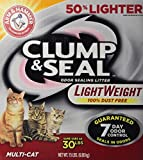 Arm & Hammer Clump & Seal Lightweight Litter, Multi-Cat, 15 Lbs