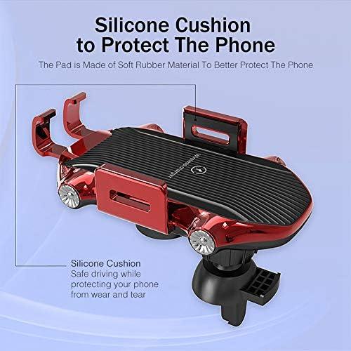 無線車の充電器、10Wチーは、高速オートクランプカー携帯電話ホルダー、互換性のあるサムスンS10 / S10 + /ノート10 / S9 / S8 / iPhone 11/11プロ+ / XR/のX最大/X / 8 +充電します,赤