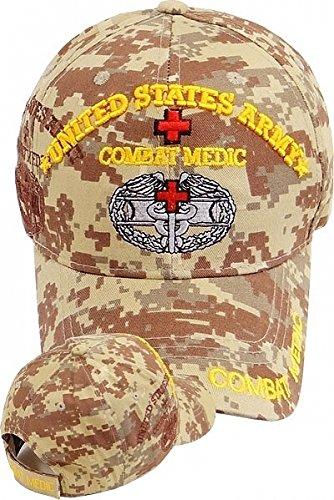 United States Army Combat Medic Shadow Mens Cap [Desert Digital - Adjustable]