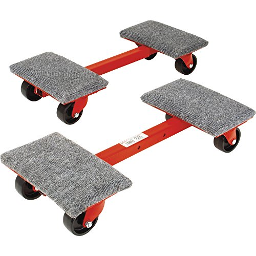 Roberts 10-575 Heavy Cargo Moving Dollies with 1,000-Pound Capacity and Ball Bearing Wheels, 2-Pack (Dolly Equipment)