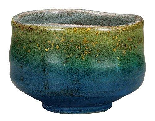 Kutani Yaki Kinsai Pottery 4.9inch Matcha Bowl by Watou.asia