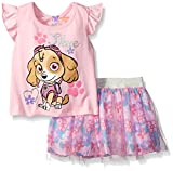 (US) Nickelodeon Little Girls 2 Piece Paw Patrol Skye Scooter Set, Pink, 2T