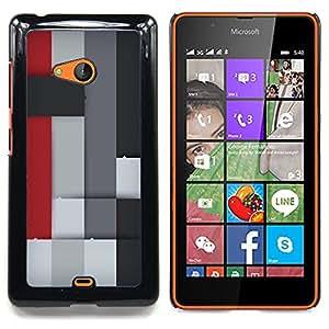 - Colorful Block/ Duro Snap en el tel????fono celular de la cubierta - Cao - For Microsoft Nokia Lumia 540 N540